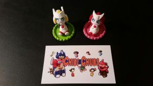 Chibi Chub Cap Chaps: Ratchet and Drift by Laserbot