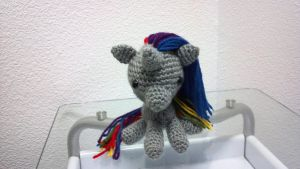 Robot Unicorn Amigurumi by MLPwny-girl