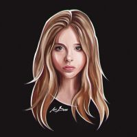 Chloe Moretz portrait by snikers15