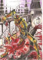 cyrax killing liu kang by DesertoMental