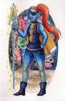 Outertale - Undyne by Yuumeee