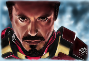 iPad FINGER PAINTING - Ironman! by chaseroflight