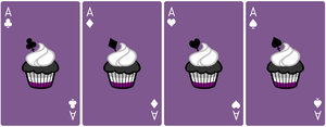 Ace Deck 55: Cupcake+Violet+White by Galadnilien