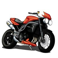 Speed Triple 2008 Orange by Zed03