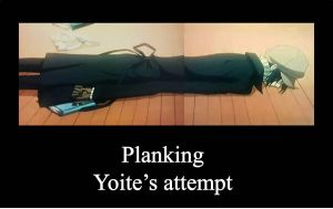 Planking: Yoite's Attempt by Kaito00-0001