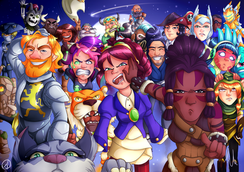 Brawlhalla Selfie - Colouring Contest by cyberbubble99