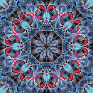 Blue and Red Mandala 6 by janclark