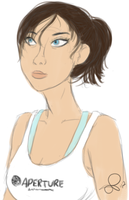 chell sketch 090112 by VinDeamer