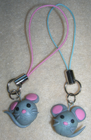 Mouse Phone Charms by mistoftime