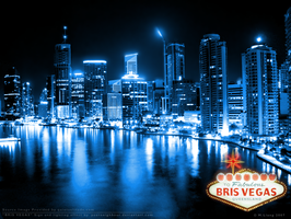 Bris Vegas- Blue Neon by YourNeighbour