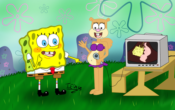 SpongeBob and Sandy, look at the twins! by iedasb