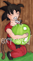 another chibi goku colored by soulexposed