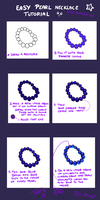 Easy pearl necklace tutorial by Vulpeca