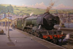 Flying Scotsman at Kingswear by Artistjeffries