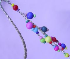 Sweet Candy beaded bookmark by ExinaArt