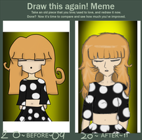 Draw this again Meme by owlforcedme