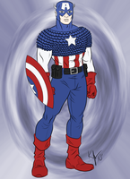 Captain America by Blackmoonrose13