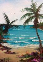 ACEO Tropical Cove by annieoakley64