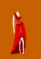 A gown by Caberoni