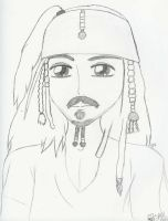 Captain Jack Sparrow by LindyArt
