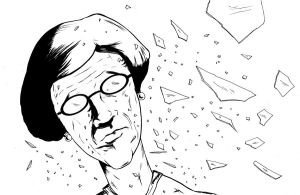 Vigilante Granny Splash b/w by Don-Kunkel