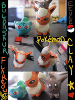 Pokemon Clay figures by lp-slash-queen