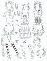 poserdoll clothes goth lolita by electricjesuscorpse