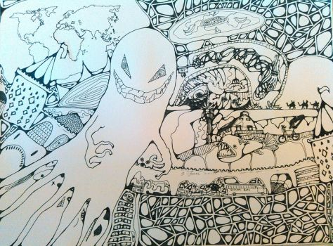 Nightmares Coloring Page by magnifulouschicken