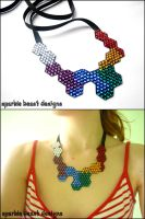 Geometric Swarovski Necklace by Natalie526