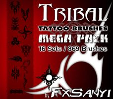 Tribal Tattoo Brushes MegaPack by FxSanyi