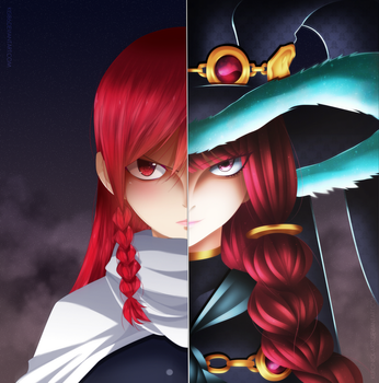 Eileen Belserion - Past and Present - Ft 514 by KuroNick-Arts