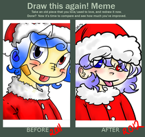 draw this again meme :x-mas by izmene