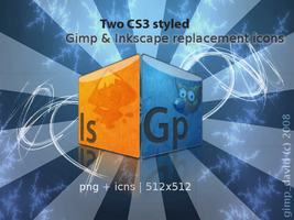Gimp + Inkscape icons by g1mp-d4v1d