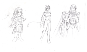 Character Sketch Dump by BeeInDreaming