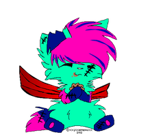 Zombie kitten adoptable with wings-C.L.O.S.E.D. by Frozen-x-Rain