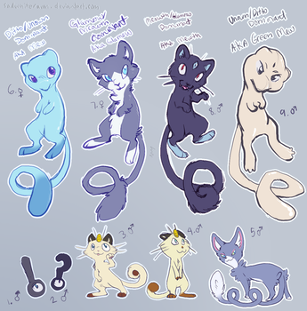 Artificial Mew Clutch Pokemon Adoptables (CLOSED) by SadWhiteRaven