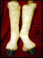 White Kneehigh Hoofboots by Magpieb0nes