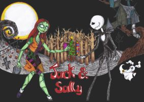 Jack And Sally by TristaStrange01