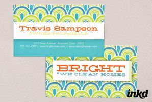 Bright Cleaning Business Card by inkddesign