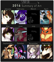 2016 Summary of Art by Sinasni