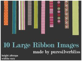 10 Large Ribbon Images by puresilverbliss