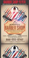 Barber Shop Flyer Template by Hotpindesigns