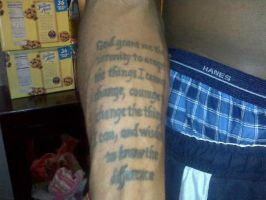 Serenity prayer no.2 by soldiersinktattoos
