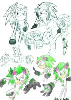 My Shaymin The Hedgehog Sketches by Marini4