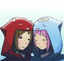 Devie and ange hoodie by Thirteen-th