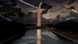 Washington monument meteor shower by locator3000
