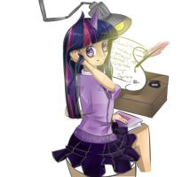 Mlp: FiM - Twilight Sparkle Anime by calabogie2007