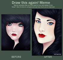 2012 to 2014 Improvement Meme by katiemarelliart