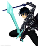 Colored Lineart: Kirito Dual Blades by xenneon by Lantaniel