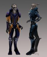 female turian concept by Nwalme